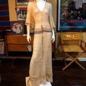 Dresses & Skirts - Vintage Bohemian Crocheted Dress